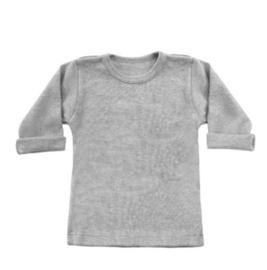 Basic longsleeve grijs