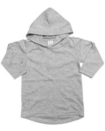 Long hoodie vest grey