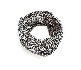Colsjaal velours leopard