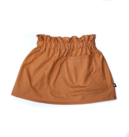 Camel pocket skirt