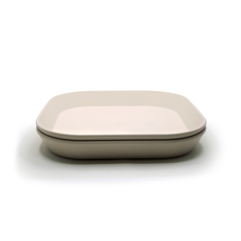 Mushie borden ivory (set van 2)