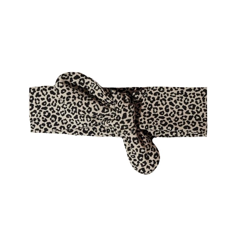 Haarbandje leopard sand
