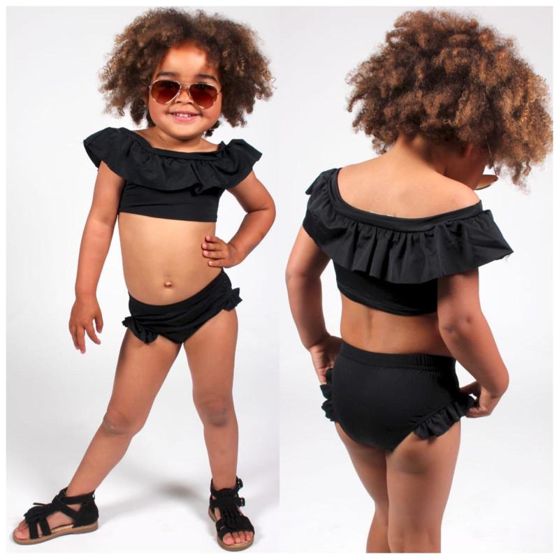 Off shoulder bikini black
