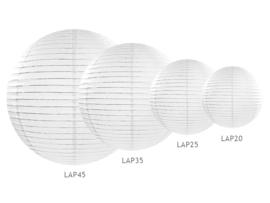 Lampion pakket 4 maten witte lampionnen