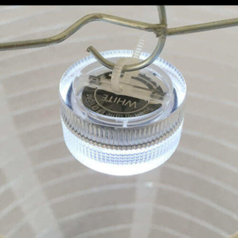 10 witte nylon lampionnen met led verlichting
