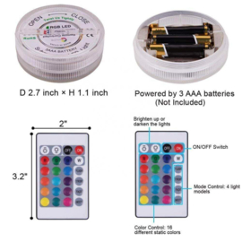 Led base RGB met afstandsbediening