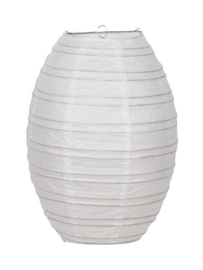 Lampion ovaal bamboe 40 cm
