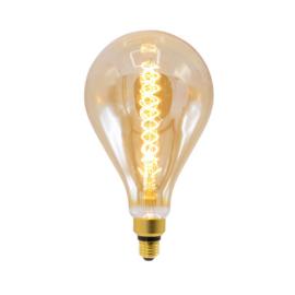 Filament led lamp spiraal peer amber glas 8,5 Watt - dimbaar
