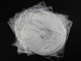 Lampion wit rijstpapier 20 cm - 10 stuks