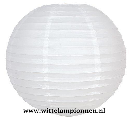 Lampion wit rijstpapier 45 cm