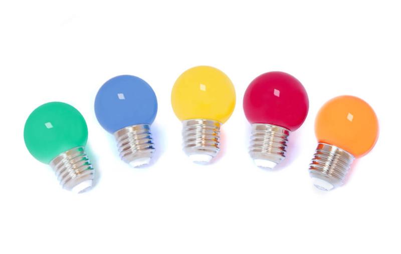 1 Watt led lamp kleur mix - 5 stuks
