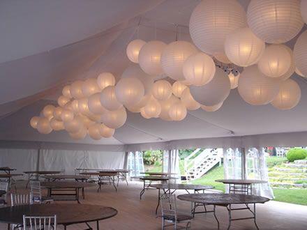 lampionnen als versiering voor bruiloft