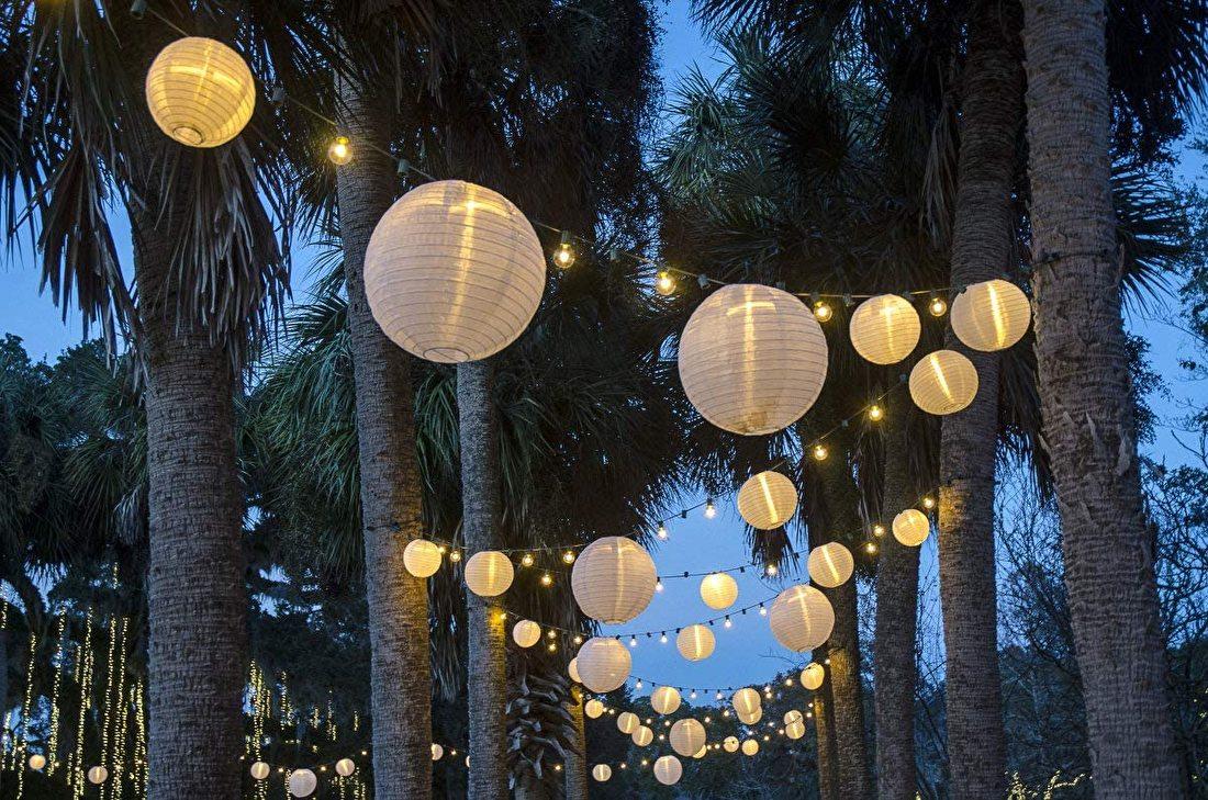 lampionnen met led verlichting voor bruiloft