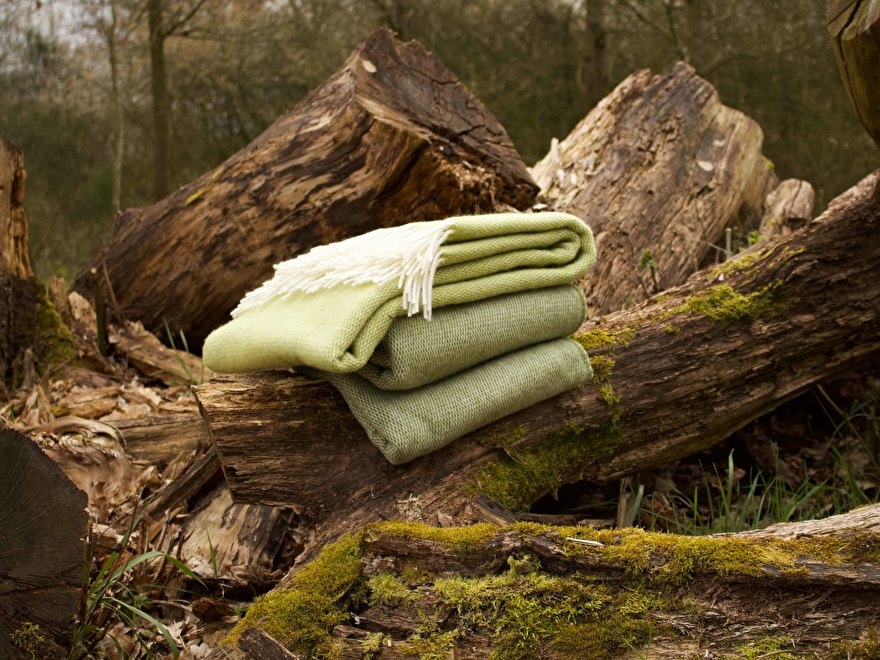 MOST wool throws in green