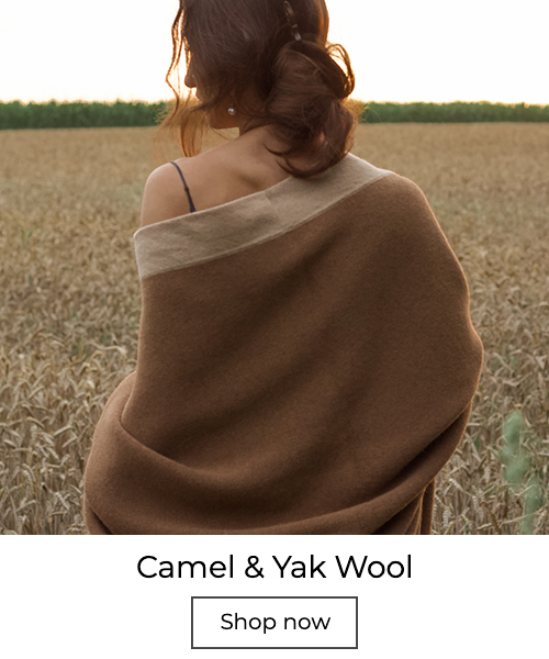 Camel wool throws