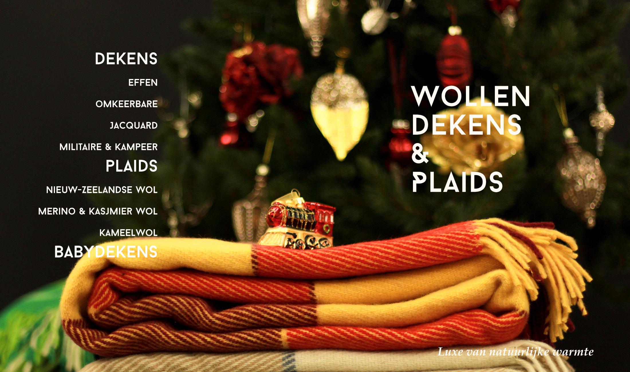 Wollen dekens en plaids voor Kerstmis