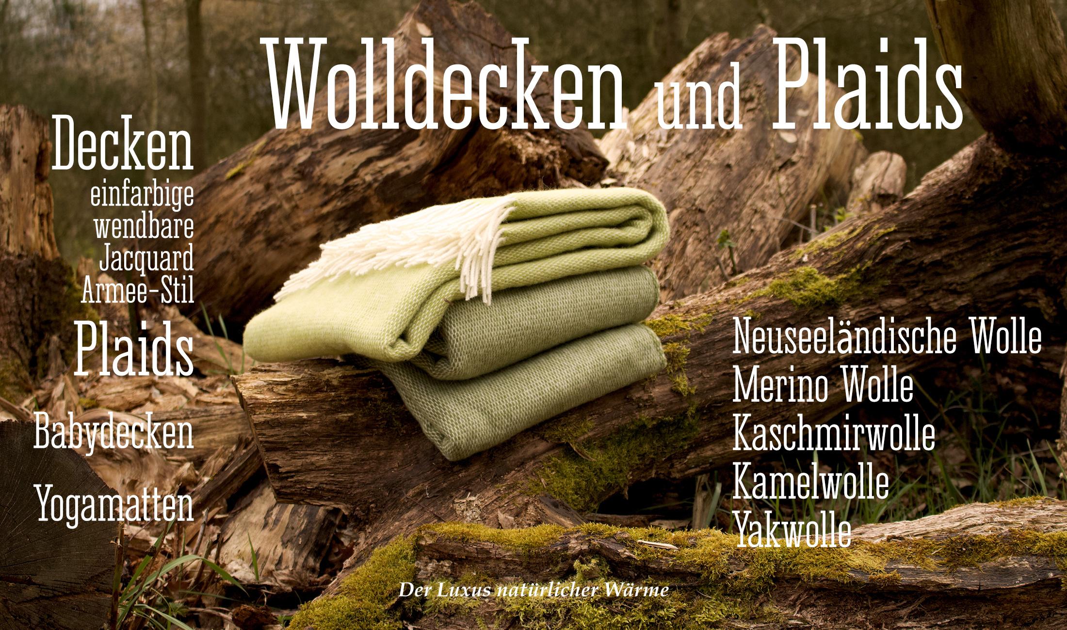 Wolldecken und Plaids