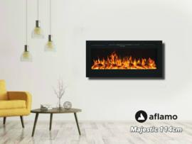 Aflamo Majestic 114cm - Wand sfeerhaard elektrisch