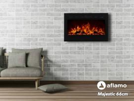 Aflamo Majestic 66cm - Wand sfeerhaard elektrisch