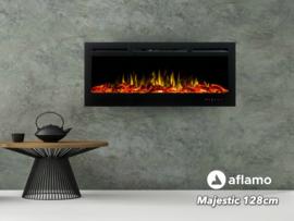 Aflamo Majestic 128cm - Wand sfeerhaard elektrisch