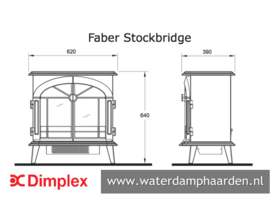 Waterdamp haard Faber Stockbridge