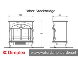 Waterdamp haard Faber Stockbridge