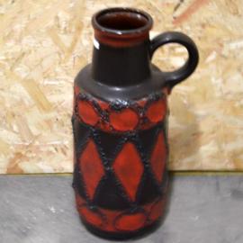rood bruine vloervaas
