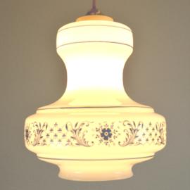 wit/blauwe hanglamp