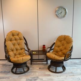 bamboe stoelen (set)