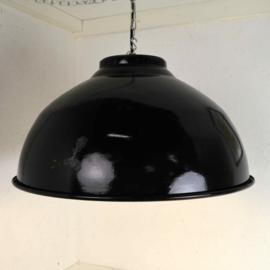 donkergroene emaille hanglamp
