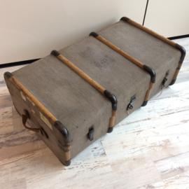 grijze reiskoffer