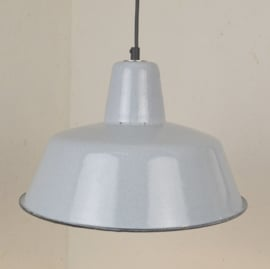 grijze emaille hanglamp