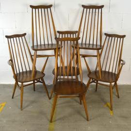 ercol tafel met 6 stoelen
