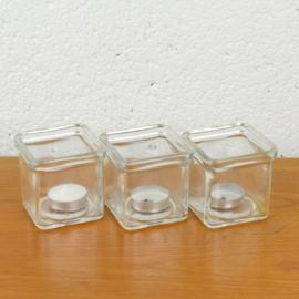 glazen waxinelichthouder