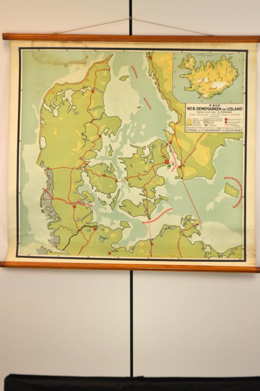 Kaart van Denemarken en IJsland