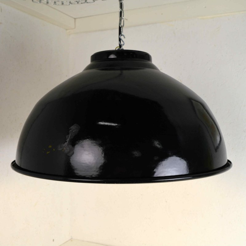groene emaille lamp