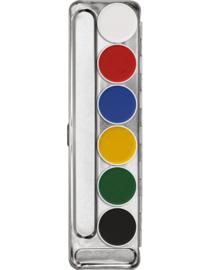 Aquacolor palet 6 kleuren