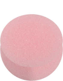 Ronde roze make-up spons