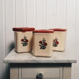Vintage bakken met deksel
