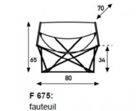 Artifort F675 Butterfly Vintage zwart leder