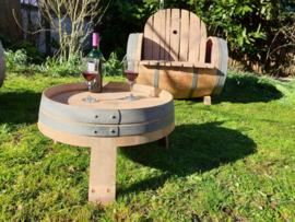 Prachtige eiken wijnvaten tuinset