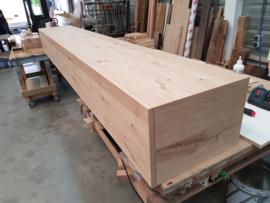 Tv Meubel geheel rustiek massief eikenhout op maat gemaakt