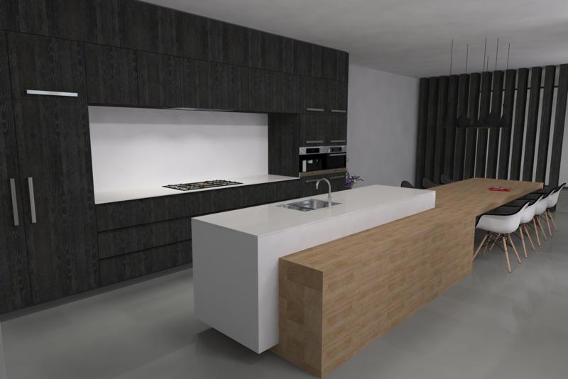 Ontwerp van een keuken op maat