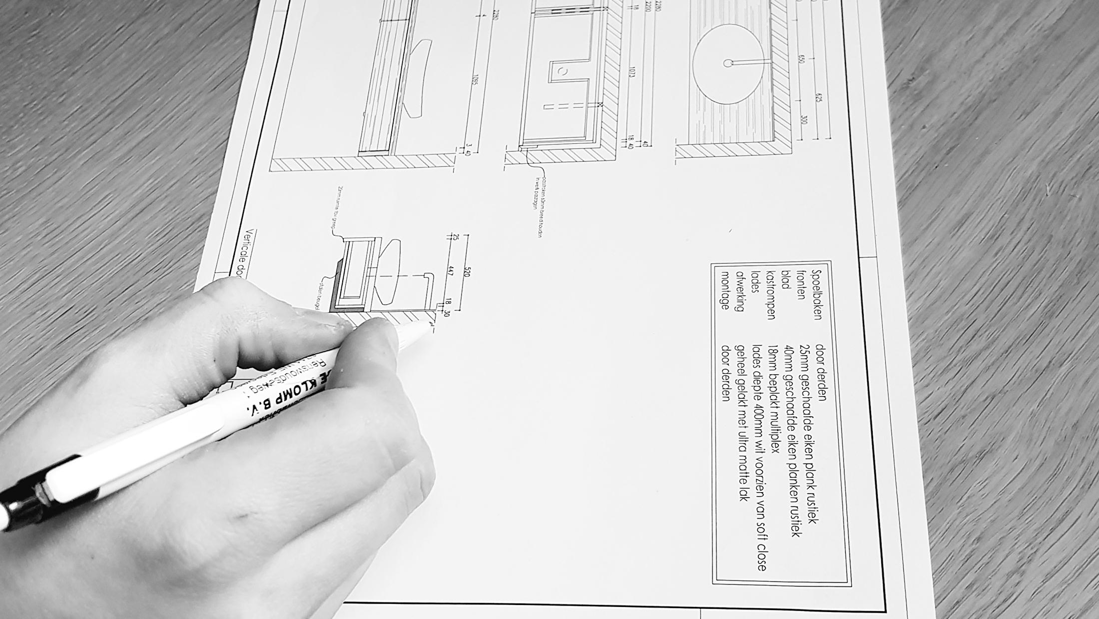 ontwerpen meubels