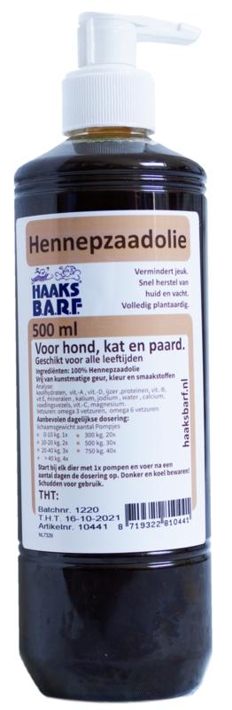 HAAKS®B.A.R.F Hennepzaadolie 500ml