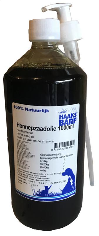 HAAKS®B.A.R.F Hennepzaadolie 1000ml