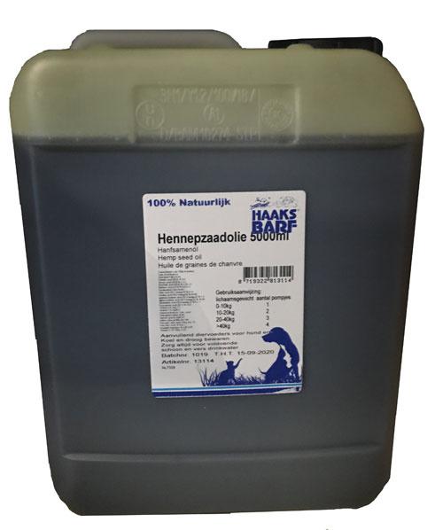 HAAKS®B.A.R.F Graines de chanvre huile 5000ml