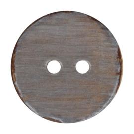 Kokos knoop vintage 002- grijs 32.5 mm