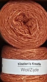 Klazien's Kreatie Wol/Zijde: 05 mandarijn