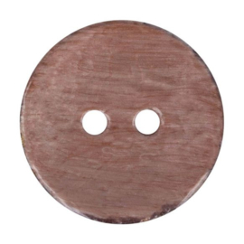 Kokos knoop vintage 932- bruin 32.5 mm